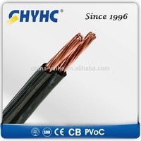LV Aerial Bundled Cables Copper Core PVC Insulated Parallel duplex triplex quadplex aerial cable