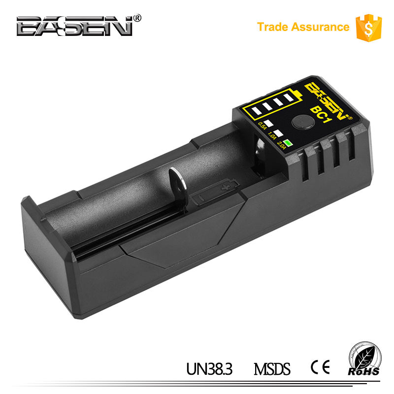 BASEN bc1 18650 2A li ion battery charger 2a Fast 18650 Portable usb car mobile solar charger