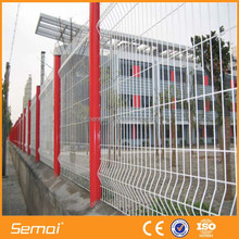 pvc coated multi colorful triangle curved wire mesh fence for boundary wall