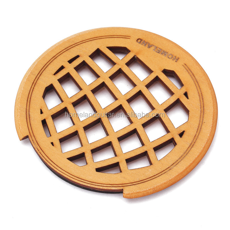 Acoustic Electric Guitar Feedback Buster Hollow Out Wood Soundhole Hole Sound Cover Block Screeching Halt Protector