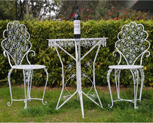 Specialized design cast iron pure white outdoor art garden furniture