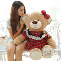 Soft Plush Chubby Teddy Bear Toys with skirt for Lover Cheap wholesale plush toy bulk