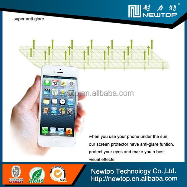 newtop high clear screen protector for iphone 5 screen protector film blue film