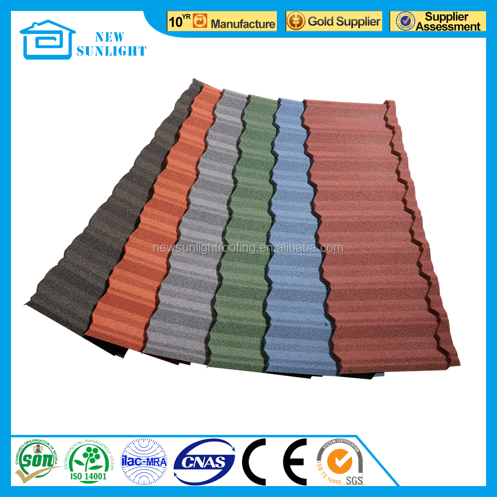 Nigeria style SONCAP certificate corrugated color stone coated metal roofing tile