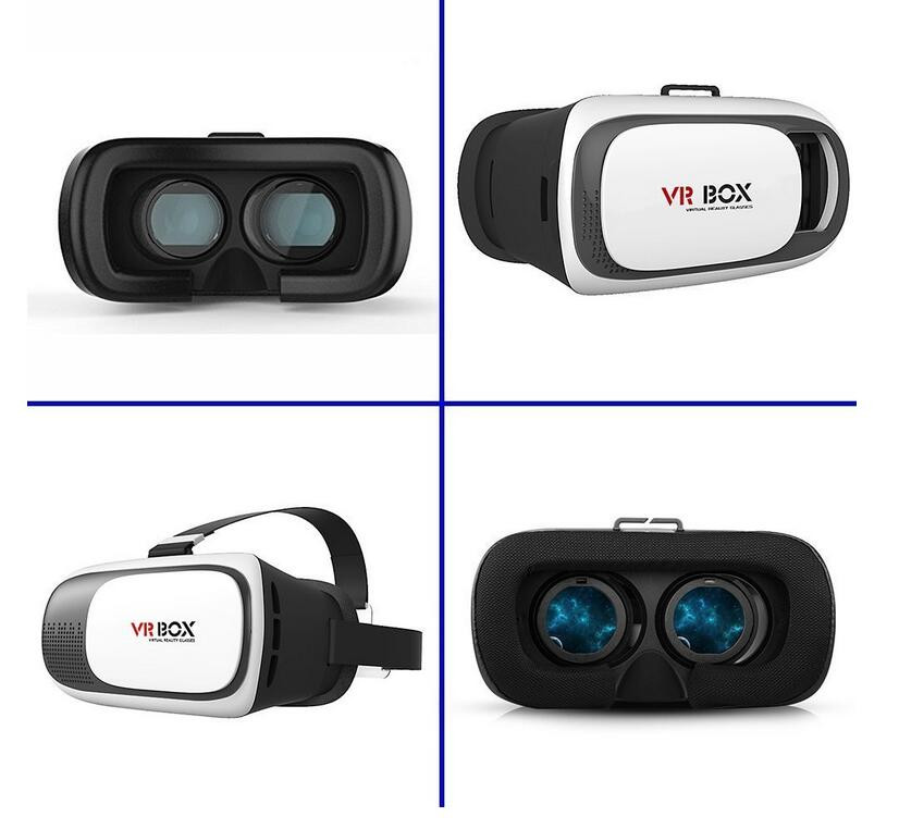 2016 Popular VR BOX 3D Glasses 2.0 Version Virtual Reality 3D Video Controller+Bluetooth