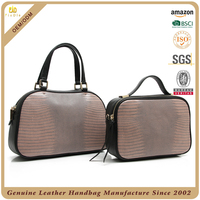 wholesale spain leather bags lizard pattern cow leather handbag