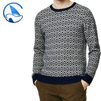 2015 High Fashion men long sleeve pullover sweater jacquard