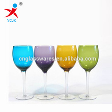 colored thick glass goblets