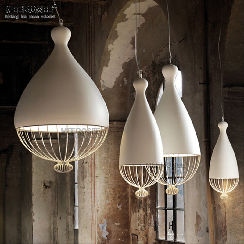 Industrial Iron Hanging Light Simplr White Pendant Design MD83078