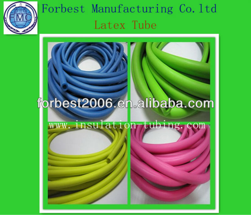 Blue latex resistance tube in ID 5mm* OD 8mm