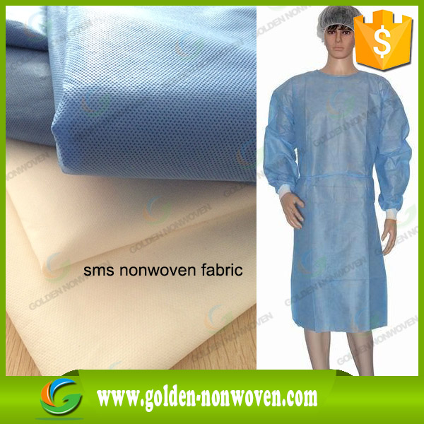 Hospital gown fabric SMS spunbond nonwoven fabric for medical use,sss non woven medical fabric