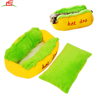 Funny Sofa Soft Cushion Mat Puppy Dog Kennel Cat kitten Sleeping Pad Sausage Hot Dog Bed