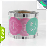 colored transparency cup sealing film for plastic cup seal
