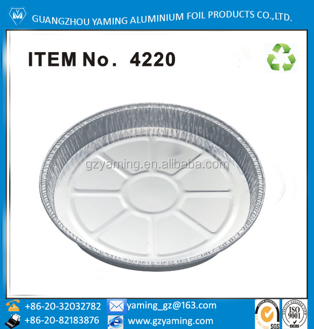 disposable aluminium pie pan aluminum foil pizza pan for oven 4220