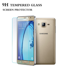 phone accessories glass screen protector 2.5D customized phone cover for samsung galaxy on5
