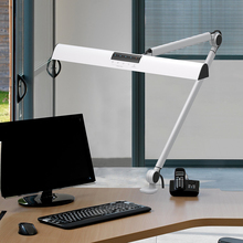 High CRI 12V DC Flexible Arm Folding Adjustable Table Lamp Office Clamp LED Desk Lamp With Touch Sensor Switch
