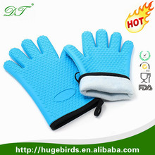 Amazon Hot Selling Heat Resistant BBQ Grill Oven Mitt / BBQ Grill Oven Silicone Gloves
