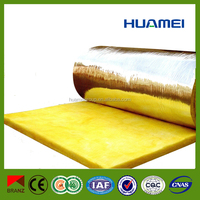 HUAMEI insulation glass wool price , glass wool roll prices