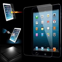Anti-fingerprint temepered glass screen protector for iPad Mini 1/2/3 anti-shock touch screen protective glass film
