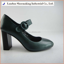 Chinese factory leather shoes round buckle