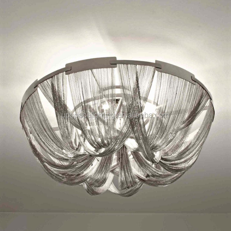 (XCP1080) China Supplier modern ceiling lamp Project LED chandelier Luxury Aluminum Chain ceiling lamp