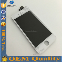 for iphone 5 digitizer lcd front screen assembly,100% warranty wholesale,factory directly
