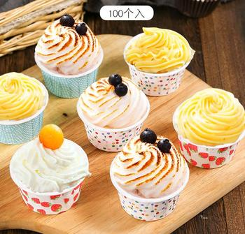 4 OZ Food-grade Disposable Paper Souffle Cups ,Greaseproof Baking Paper Cup  Cupcake Wrappers Cupcake Liners Muffin Cups