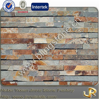 Natural slate flat rustic stone wall cladding