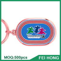 China Supplier custom sport keyring cheap printed wholesale keychain