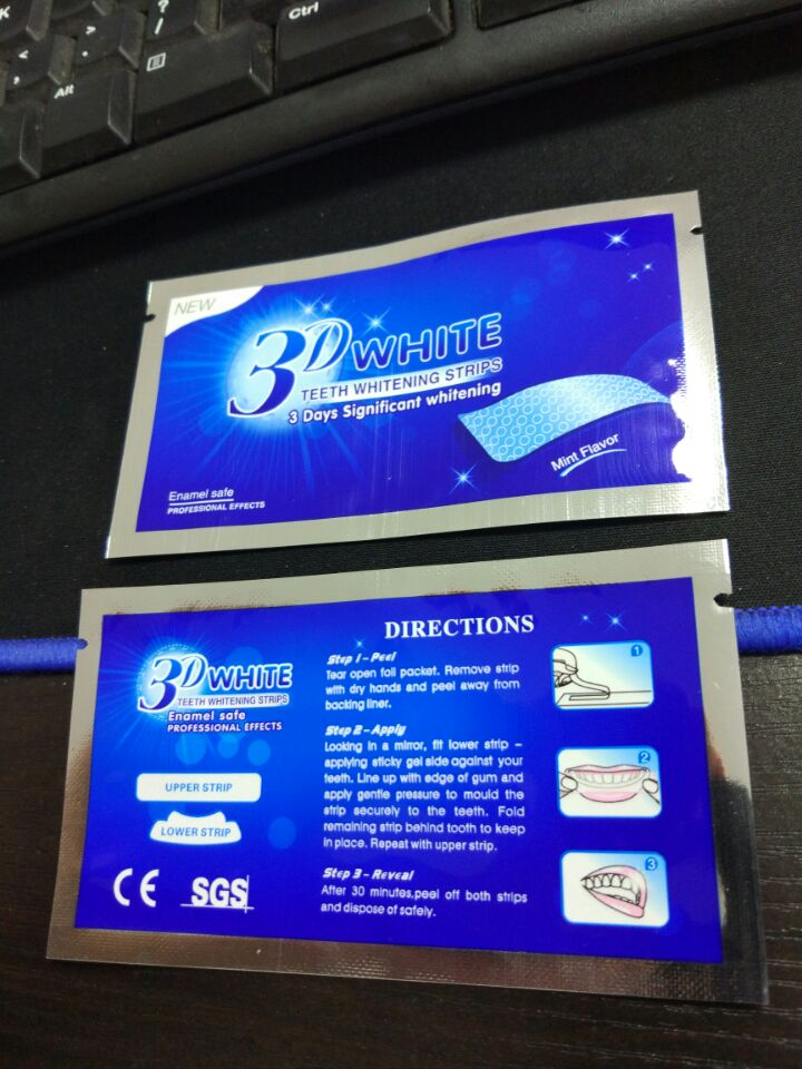 3D new whitestrips crest teeth whitening strips , dental white strips with lowe pric