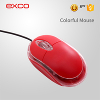 EXCO 2016 cheap multi colour mini wired computer wired USB optical mouse