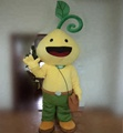 HOLA customized plant mascot costume/yellow mascot costume for sale