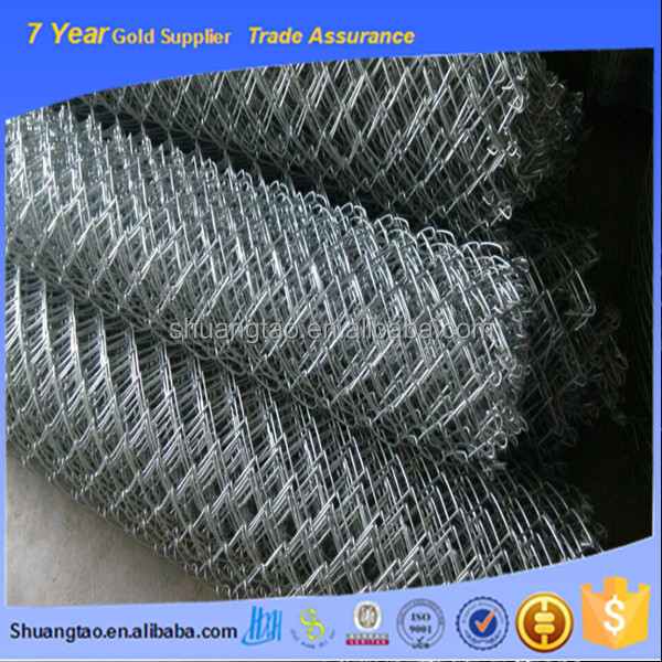 galvanized steel link chain/vinyl coated chain link fence