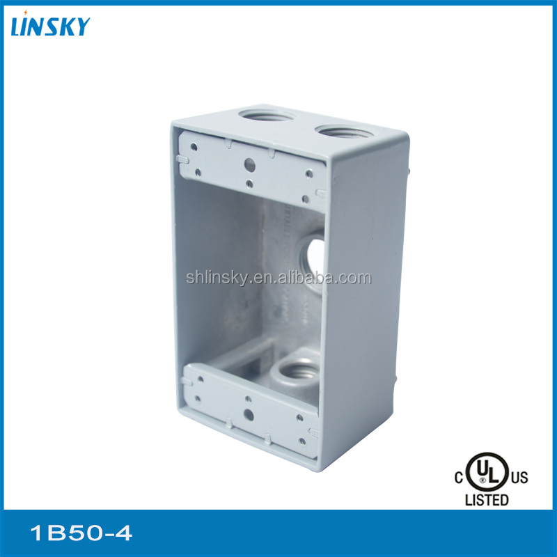 "aluminium 4out let holes 1""hole 18.3cubic inch rectangular building project galvanized switch box"