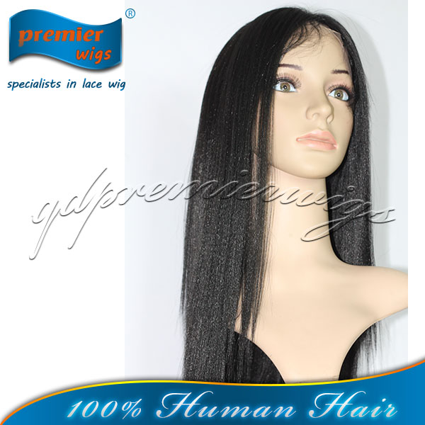 Stock wholesale lace front wig light yak straght wave Best Quality Indian human hair