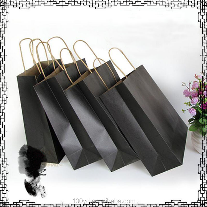 Custom advertising bag twisted handle paper bag kraft paper carrier bag
