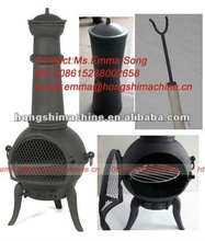 Cast iron wood burning stove,Chiminea Outdoor garden Fireplace,wood fireplace