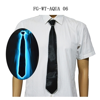 Hot Electronic el lighting ties/ El wire light up Christmas ties men gifts