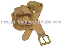 fancy leather belt with bag