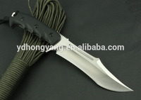 440 steel unfolding hunting knife/ G10 handle fixed blade knife