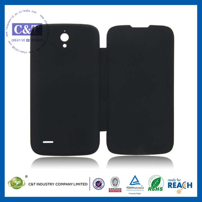 C&T Classic black leather hard case for huawei ascend g610