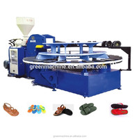 AUTOMATIC ROTARY TYPE PVC/TPR SHOES AIR BLOWING INJECTION MOULDING MACHINE