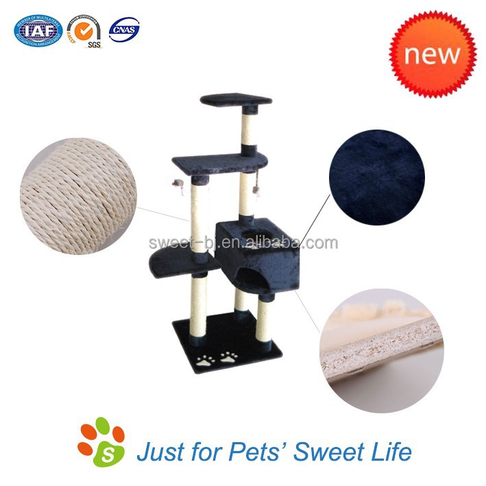 Sweet wholesale outdoor cat furniture & cat tree with scratcher