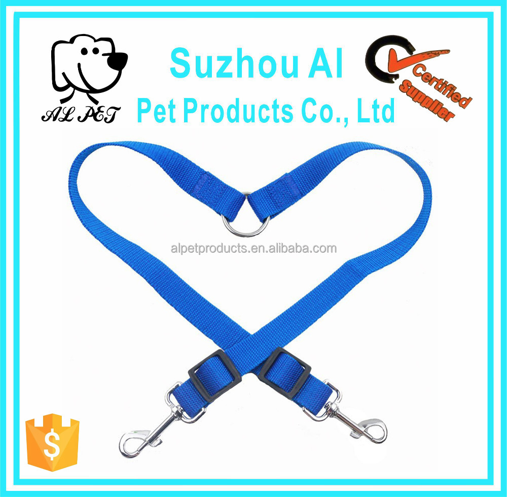 Nylon Double Multiple Dual Coupler 2 Way Dog Pet Walking Double Dog Leash