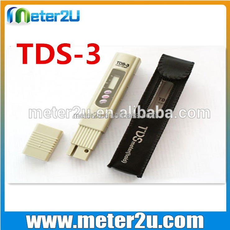 Portable best soil ph sensor TDS salinity meter test equipment TDS-3