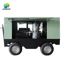 90KW/125HP Electric Diesel Portable Rotary Screw Air Compressor