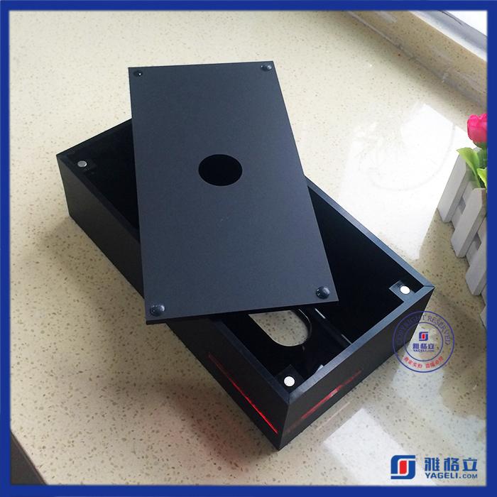 Hot Sale Black Perspex Acrylic Table Napkin Holder