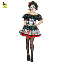 Halloween costume for sexy skeleton women costumes