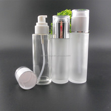 120ml Glass Cream Bottle with Lotion Pump, 4 oz Glass Spray Bottle for Facial Serum