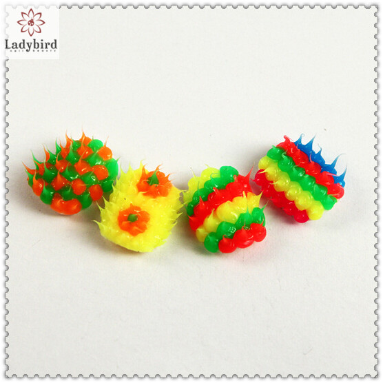 fashional colorful hedgehog design adhesive nail tips